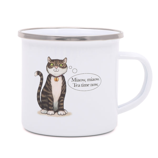 Tower Bridge Cat Enamel Mug 2