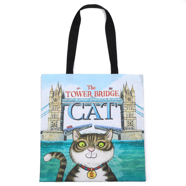 Tower Bridge Cat Tote Bag