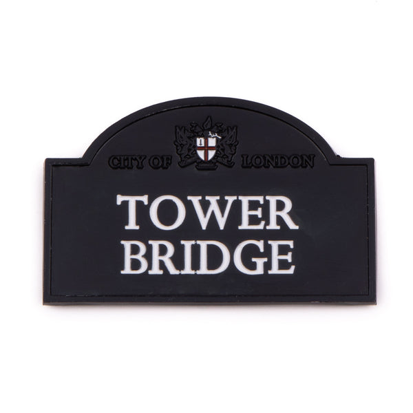 Tower Bridge Sign Chrome Magnet