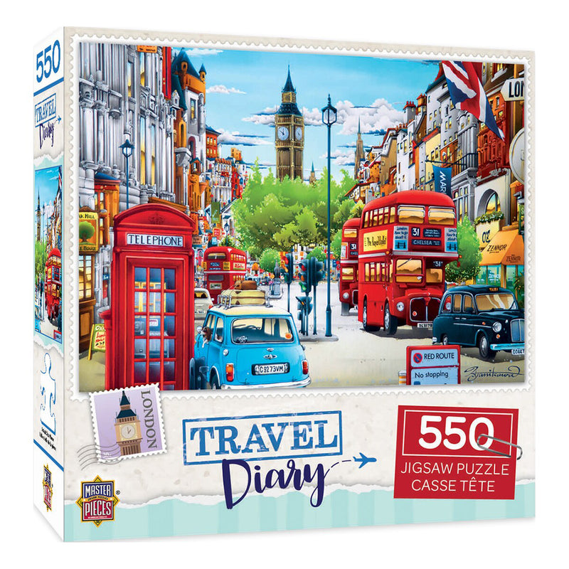 Travel Diary London Puzzle - 550 Pieces 1