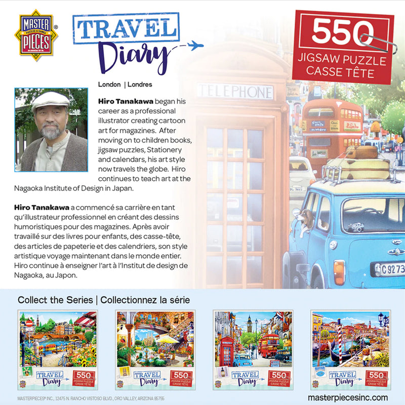 Travel Diary London Puzzle - 550 Pieces 3