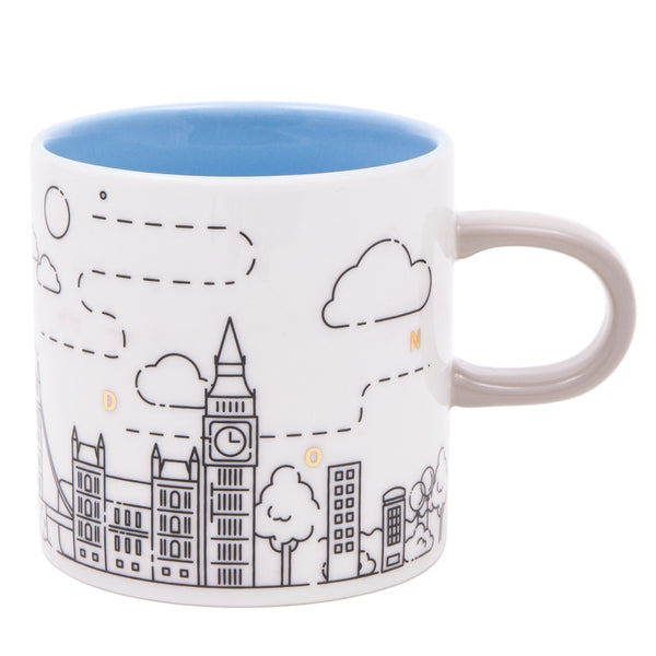 Upon The Moon London Mug - Blue 1