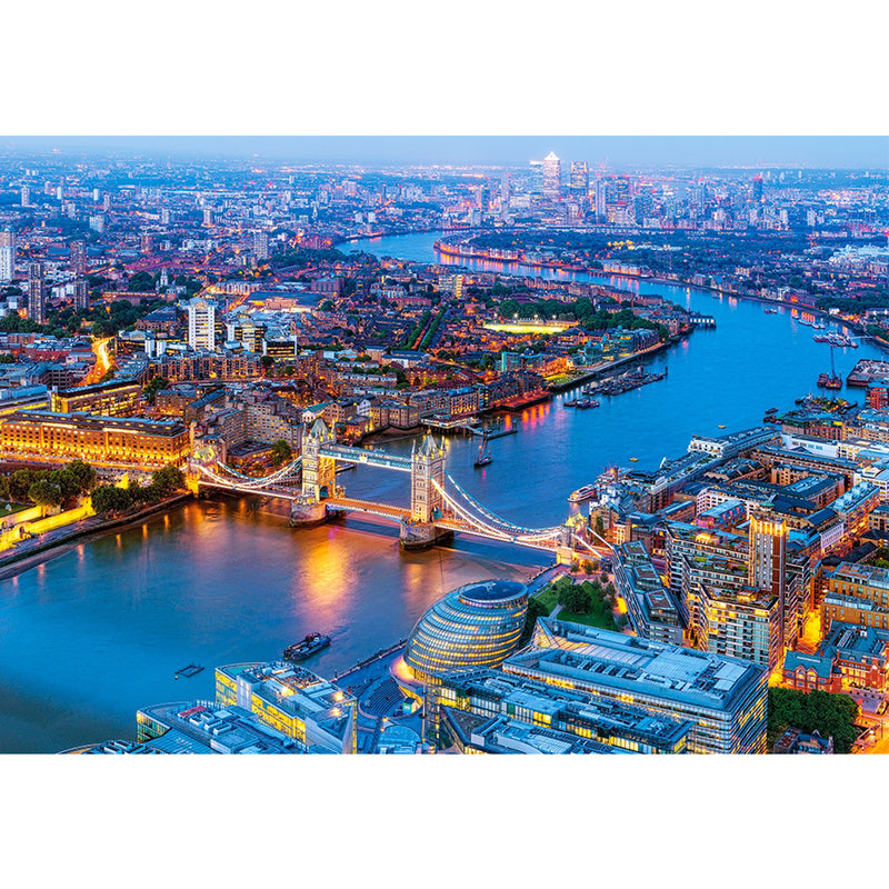Aerial View of London & Tower Bridge 1000 Piece Puzzle