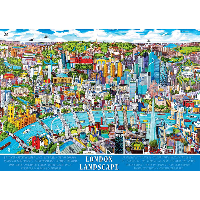 London Landscape 1000 Piece Puzzle assembled
