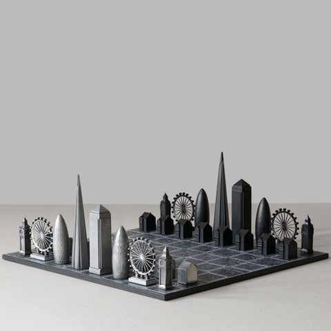Skyline London Premium Metal Chess Set
