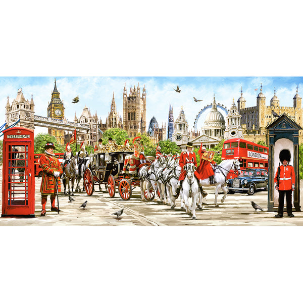Pride of London 4000 Piece Puzzle assembled