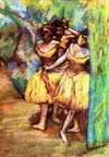 Edgar Degas - Three Dancers Behind The Scenery