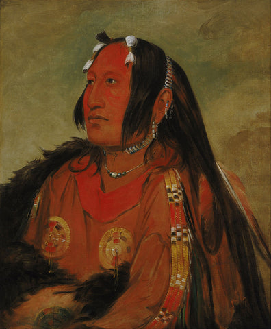 George Catlin - Wi jún jon, Pigeon's Egg Head (The Light), A Distinguished Young Warrior