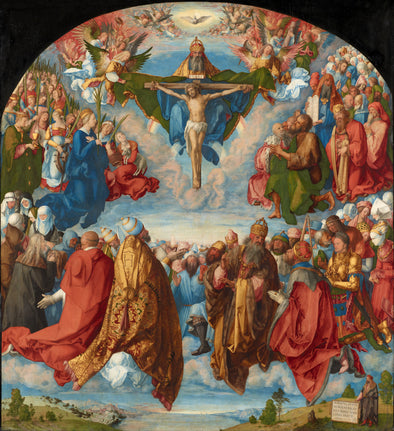 Albrecht Dürer  - Adoration of the Trinity - Get Custom Art