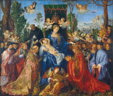 Albrecht Dürer  - Feast of Rose Garlands - Get Custom Art