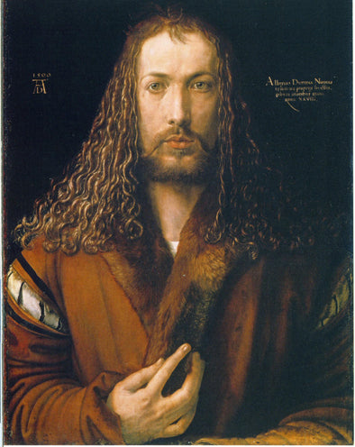 Albrecht Dürer  - Self Portrait at the Age of Twenty Eight 1500 - Get Custom Art