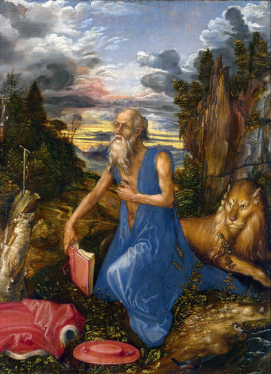 Albrecht Dürer  - St Jerome in the Wilderness - Get Custom Art