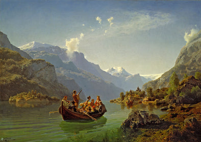 Adolph Tidemand - Bridal journey in Hardanger