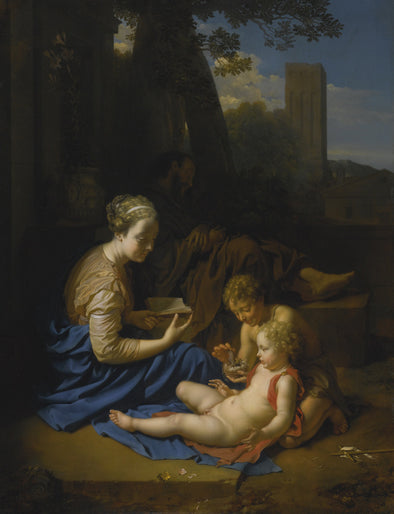 Adriaen van der Werff - The Holy Family with the Infant Saint John The Baptist - Get Custom Art