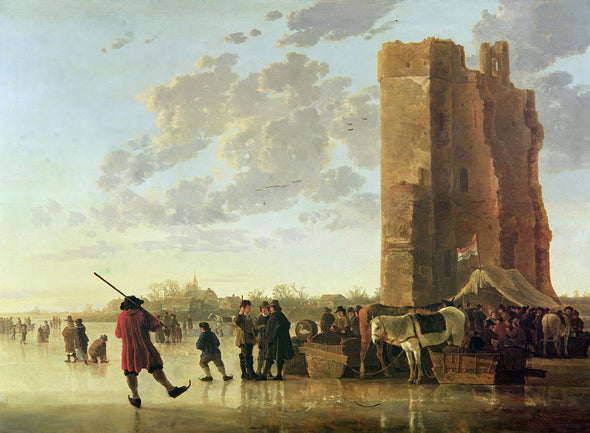 Aelbert Cuyp - View of the Maas in the winter
