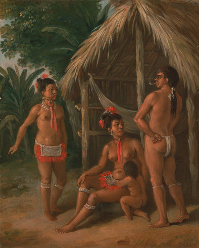 Agostino Brunias - A Leeward Islands Carib family outside a Hut - Get Custom Art