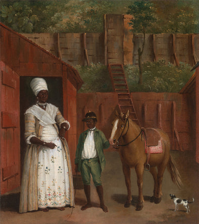 Agostino Brunias - A Mother with her Son and a Pony - Get Custom Art