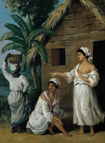 Agostino Brunias - Caribbean Women in front of a Hut