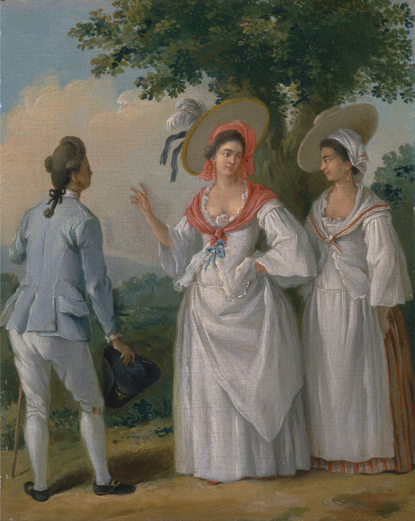 Agostino Brunias - Free West Indian Creoles in Elegant Dress