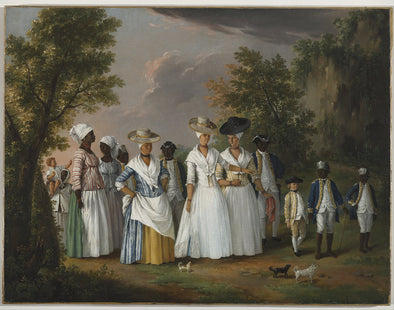 Agostino Brunias - Free Women of Color with their Children and Servants in a Landscape - Get Custom Art