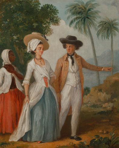 Agostino Brunias - Planter and his Wife with a Servant - Get Custom Art