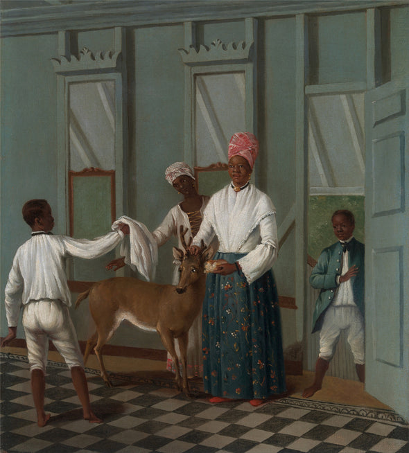 Agostino Brunias - Servants Washing a Deer - Get Custom Art