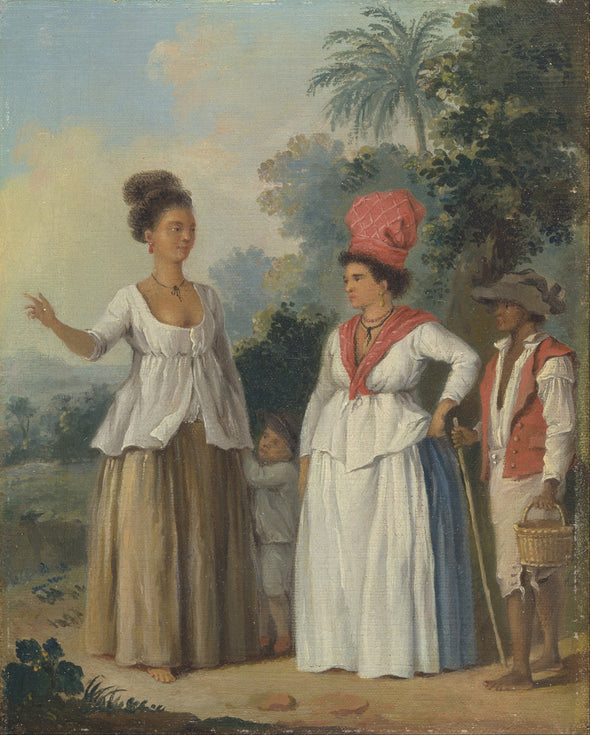Agostino Brunias - West Indian Women of Color, with a Child and Black Servant - Get Custom Art