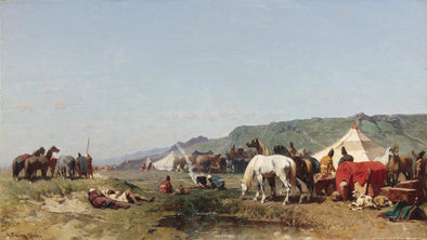 Alberto Pasini - An Arab Encampment - Get Custom Art