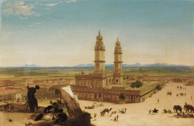 Alberto Pasini - Oriental Landscape with Mosque - Get Custom Art
