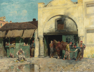 Alberto Pasini - The Blacksmith'S Shop - Get Custom Art