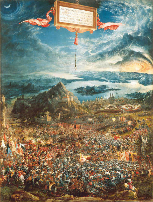 Albrecht Altdorfer - The Battle of Alexander at Issus - Get Custom Art