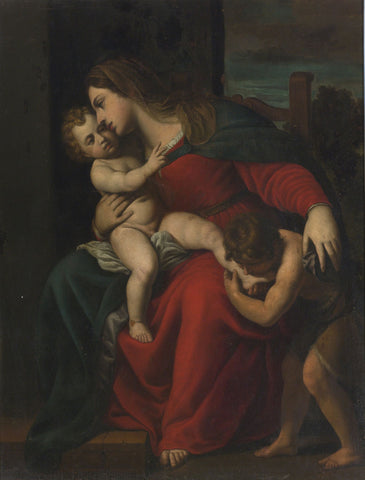 Alessandro Turchi (L'Orbetto) - Madonna and Child with the Infant St. John the Baptist