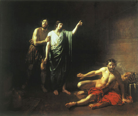 Alexander Andreyevich Ivanov - Joseph Interpreting Dreams to Butler and Baker Concluded with him in Prison