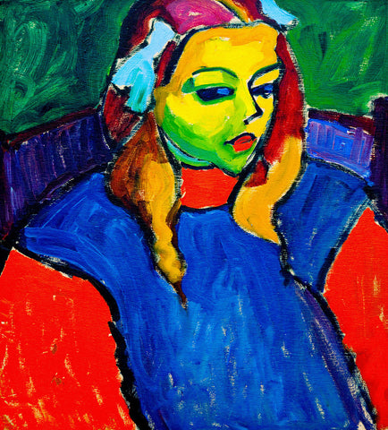 Alexej von Jawlensky - Girl with the Green Face