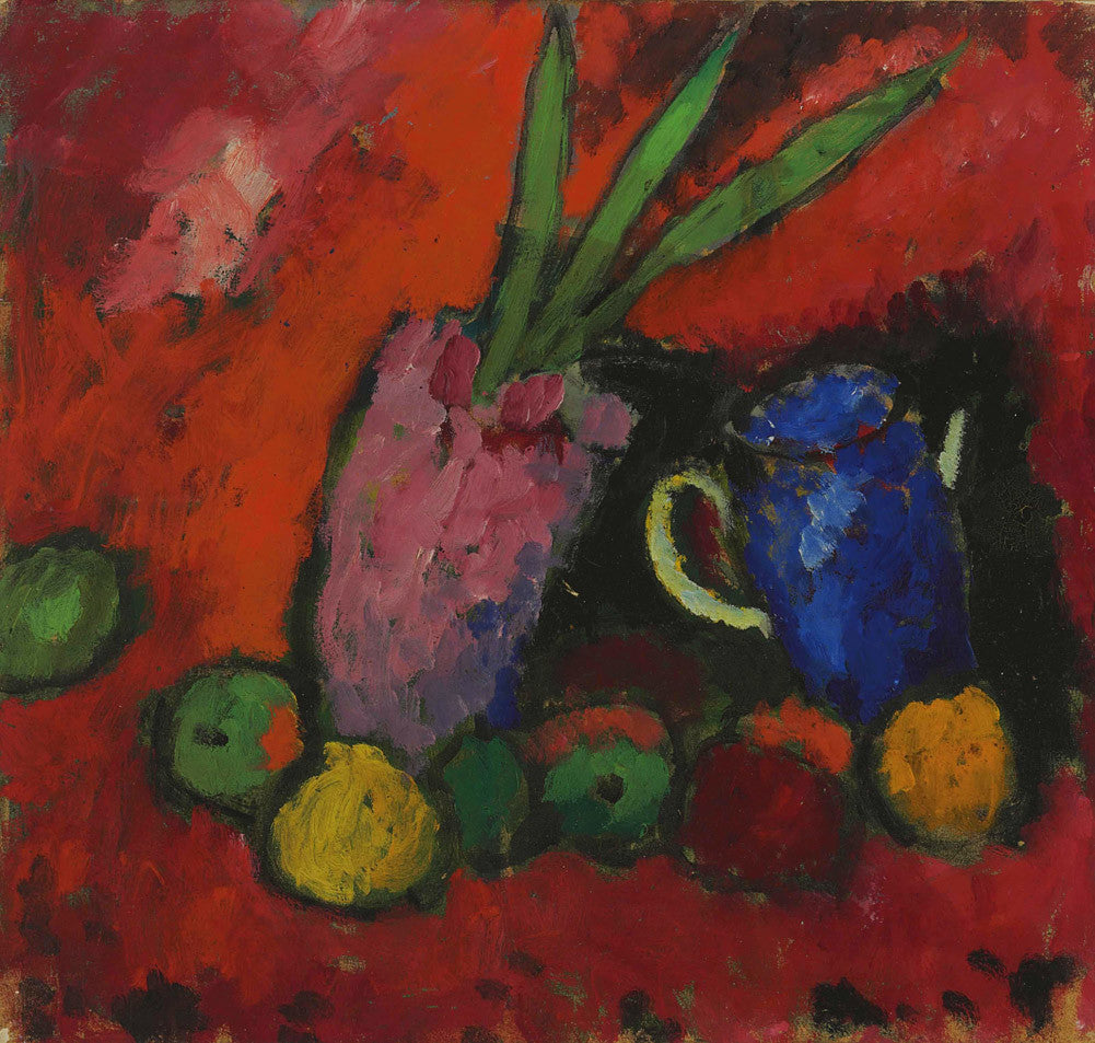 Alexej von Jawlensky - Still Life with Hyacinth, Blue Pitcher and Apples