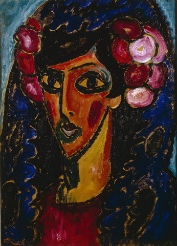 Alexej von Jawlensky - The Blue Mantilla