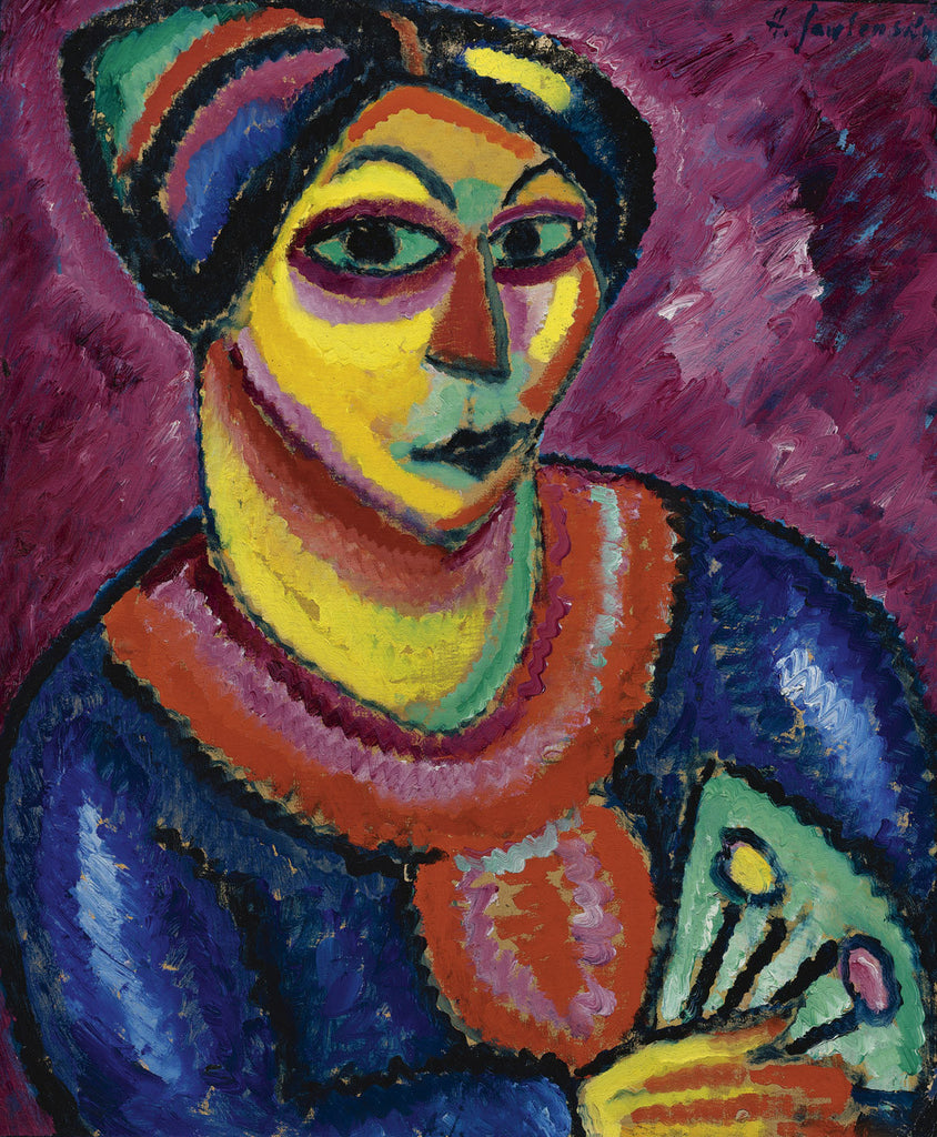 Alexej von Jawlensky - Woman with a Green Fan