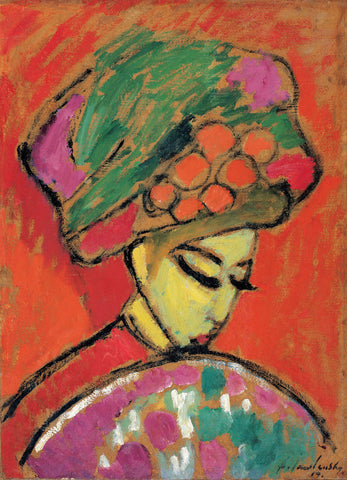 Alexej von Jawlensky - Young Girl with a Flowered Hat