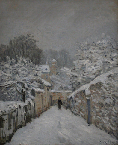 Alfred Sisley - Snow at Louveciennes - Get Custom Art