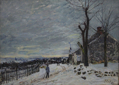 Alfred Sisley - Snowy Weather at Veneux Nadon - Get Custom Art