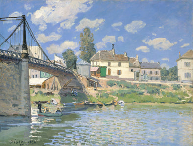 Alfred Sisley - The Bridge at Villeneuve-la-Garenne - Get Custom Art