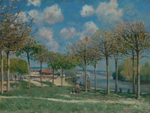 Alfred Sisley - The Road from Moret to Saint Mammès