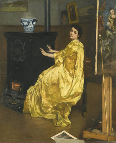 Alfred Stevens - Dans L'Atelier, Le Repos Du Modèle (In The Workshop, The Rest of the Model) - Get Custom Art