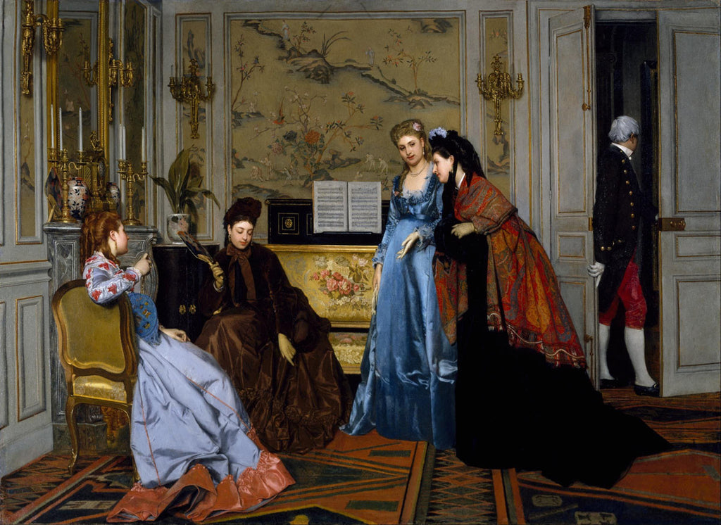 Alfred Stevens - Elegant Figures in a Salon