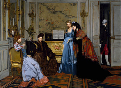Alfred Stevens - Elegant Figures in a Salon - Get Custom Art