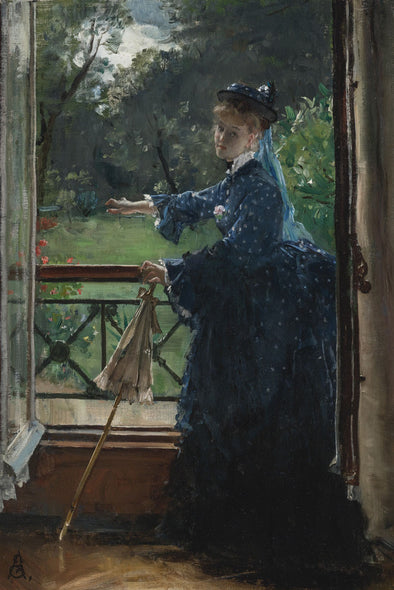 Alfred Stevens - Femme Au Balcon (Female on the Balcony) - Get Custom Art