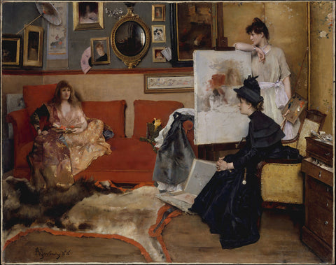 Alfred Stevens - In the Studio