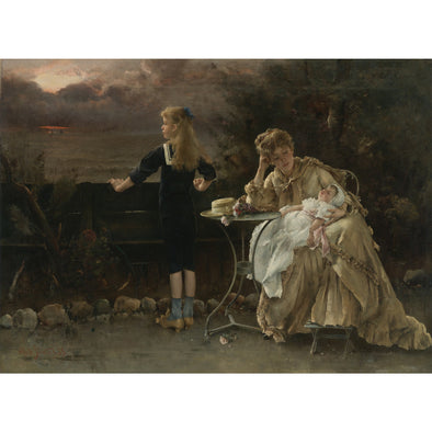 Alfred Stevens - Mother and her Children - Get Custom Art