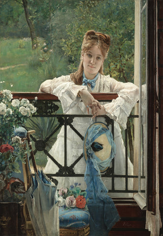 Alfred Stevens - The Blue Ribbon
