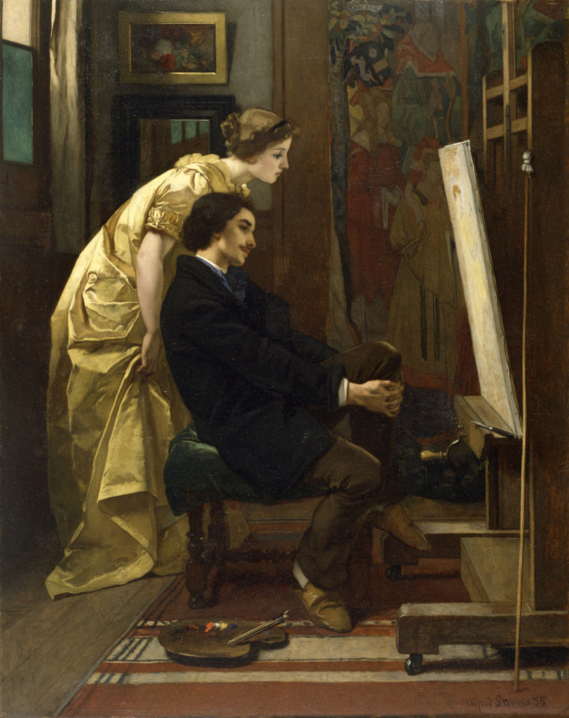Alfred Stevens - The Painter and His Model